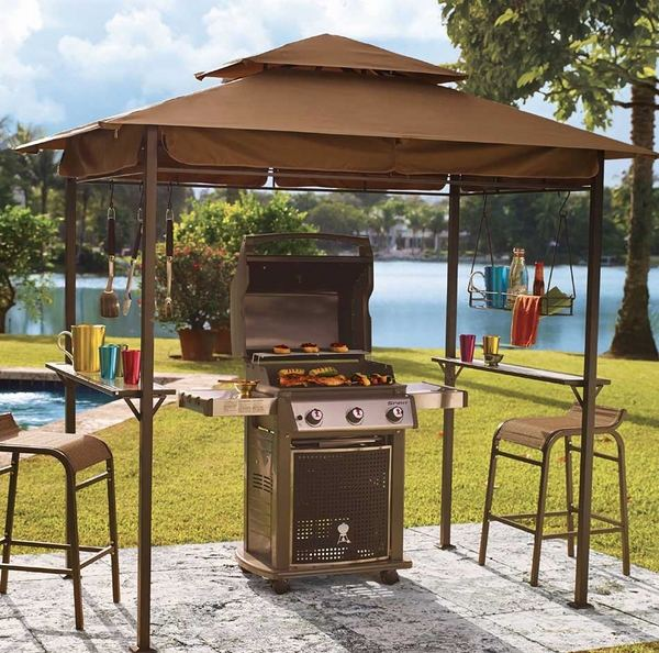 Gazebo canopy ideas - awesome outdoor living space designs on Patio Grilling Area  id=71581