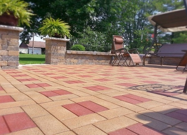 Rubber pavers - lasting and cost effective outdoor pavers on Red Paver Patio Ideas id=71342