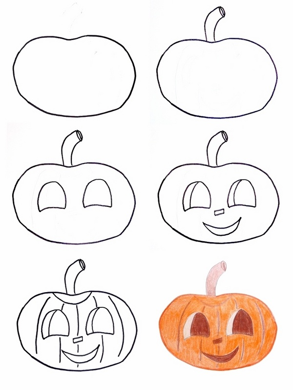 How to draw a pumpkin. Halloween Drawing Ideas Cool Halloween Crafts And Activities
