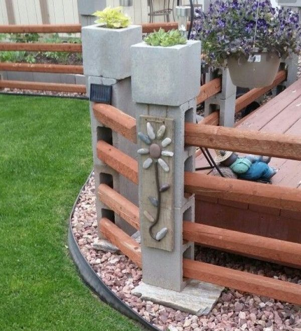 Cinder block garden ideas - furniture, planters, walls and ... on Backyard Cinder Block Wall Ideas id=18731