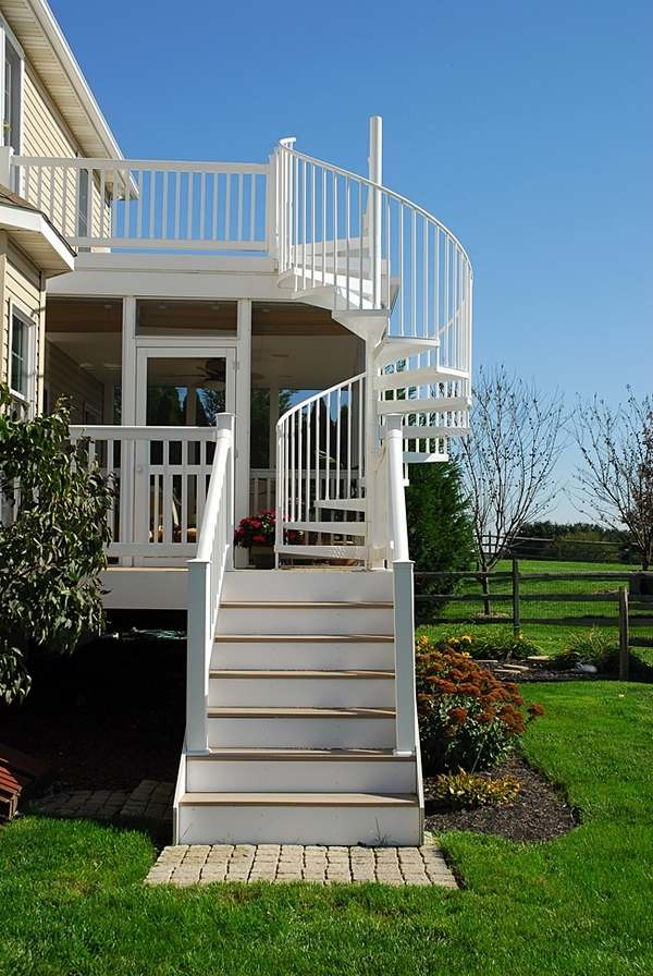 Outdoor spiral staircase designs to complement the house ... on Backyard Stairs Design id=97402