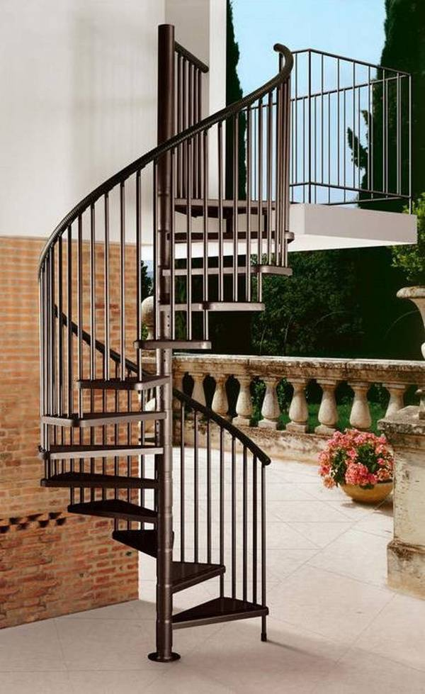 Outdoor spiral staircase designs to complement the house ... on Backyard Stairs Design id=32343