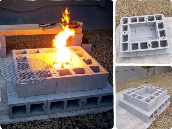 Cinder block fire pit - DIY fire pit ideas for your backyard on Diy Cinder Block Fireplace id=45129