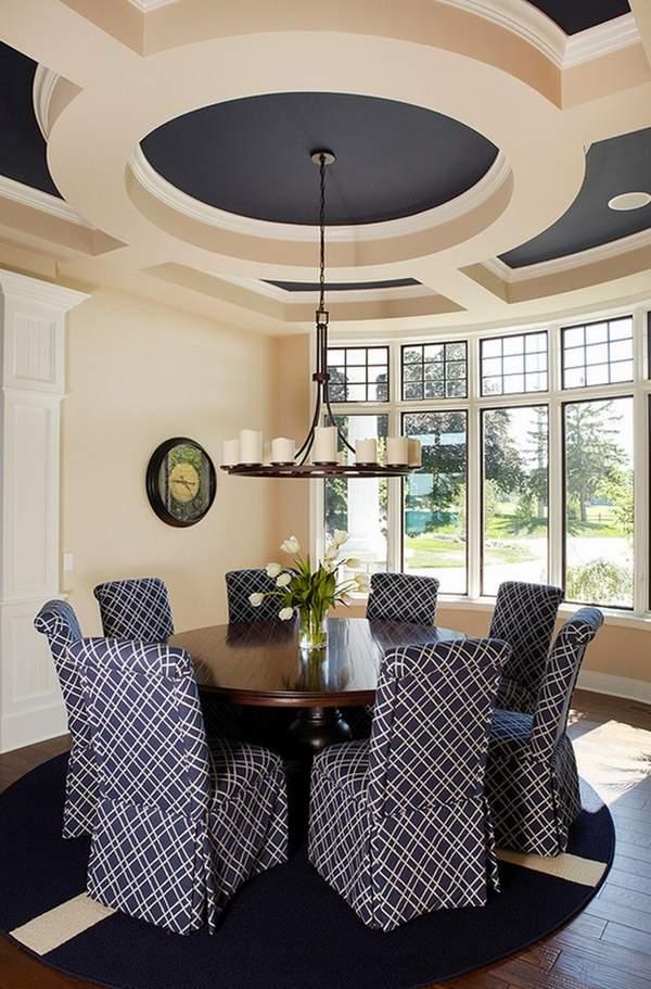 50 Stylish and elegant dining room ceiling design ideas in ... on Dining Table Ceiling Design  id=67291