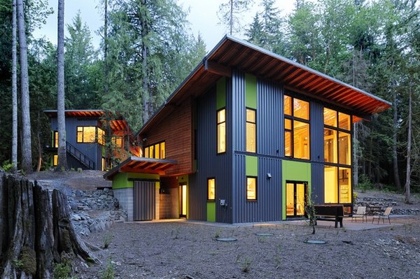 Metal building homes - modern and eco-friendly home ... on Modern House Siding Ideas  id=97463