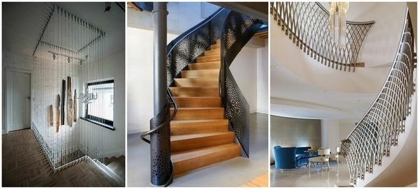 Metal Railing Ideas – Exclusive Staircase Designs For Your Home | Interior Stairs And Railings | Traditional | Living Room | Crystal | Rectangular Tube | Inside