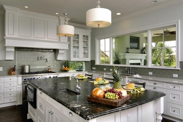 How to choose a granite countertop - types, colors, edges ... on Kitchen Backsplash Backsplash Ideas For Granite Countertops  id=54790