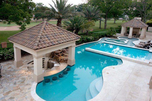 Unique pool bar ideas - enjoy your summer days and nights on Backyard Pool Bar Designs  id=22659