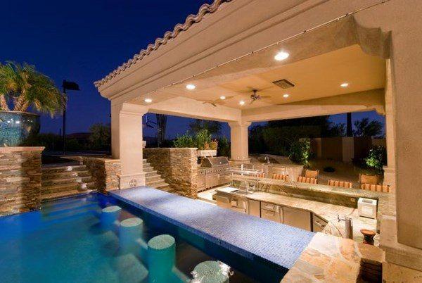 Unique pool bar ideas - enjoy your summer days and nights on Backyard Pool Bar Designs id=26489