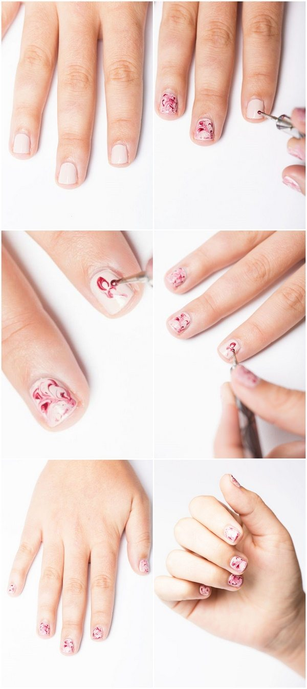Diy Marble Nail Art Toothpick Dot Tool Needle