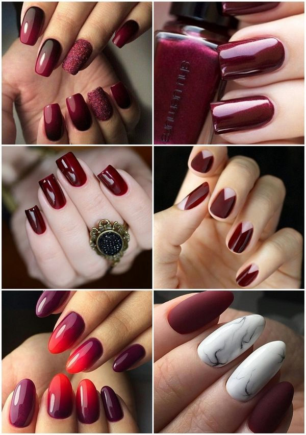 Burgundy Nails Rich Manicure Color For Every Season Of The Year