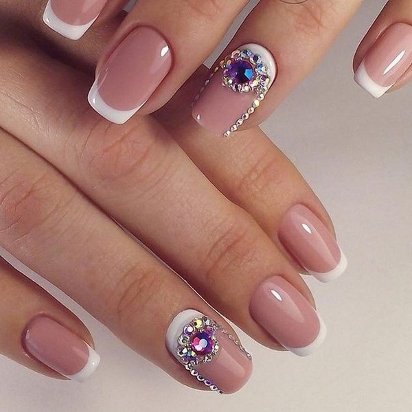 Crystal Nails Beautiful Manicure Ideas With Glittering Stones Nail Art