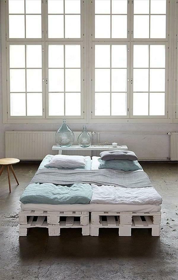 DIY pallet bed frame - fantastic bedroom furniture design ... on Pallet Ideas For Bedroom  id=43871