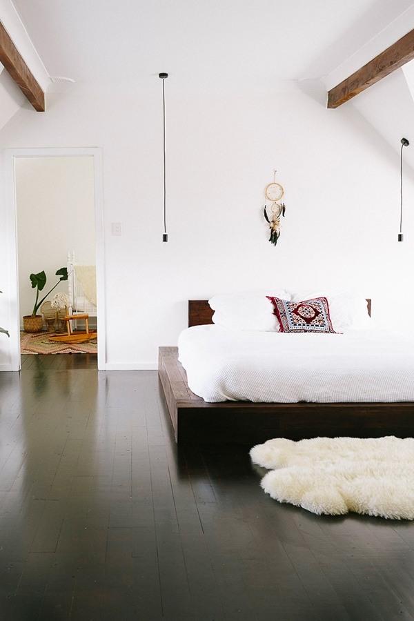 DIY bed frame - creative ideas for original bedroom furniture on Modern Boho Bed Frame  id=74081