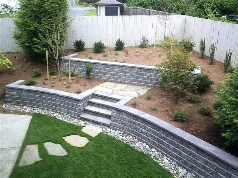 Cheap retaining wall ideas - choosing materials for garden ... on Backyard Cinder Block Wall Ideas  id=27944