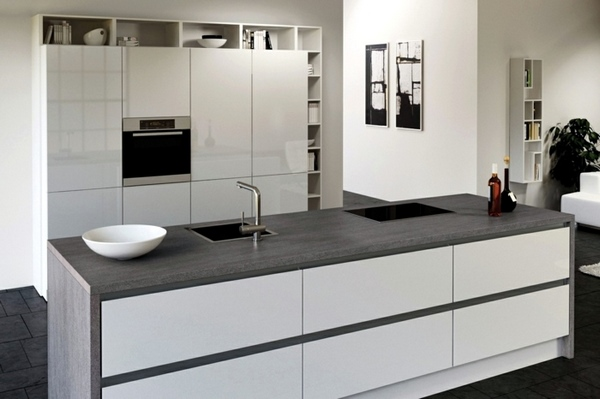 Ceramic countertops - innovative material for your kitchen ... on Modern Kitchen Countertop Decor  id=71597