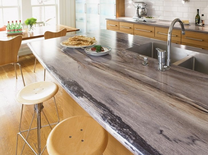 Elegant and stylish Formica countertops in modern kitchen ... on Modern Kitchen Countertop Decor  id=80390