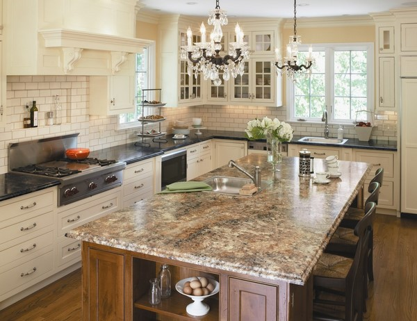 Elegant and stylish Formica countertops in modern kitchen ... on Kitchen Counter Top Decor  id=33342