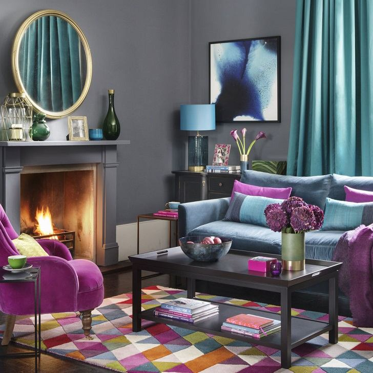 Trendy living room color schemes and modern interior ... on Colourful Living Room  id=89542
