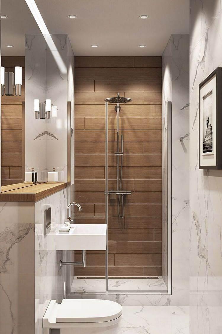 Walk in shower in a small bathroom - design ideas for ...