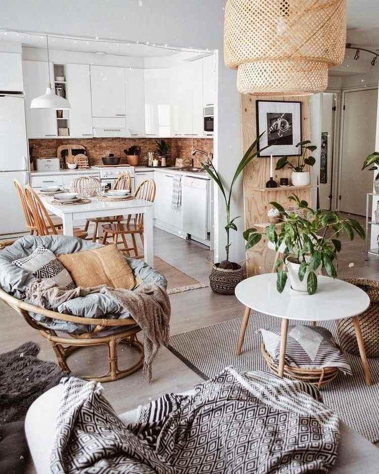 40 Outstanding Boho chic living room decor ideas in ... on Modern Boho Room  id=66217