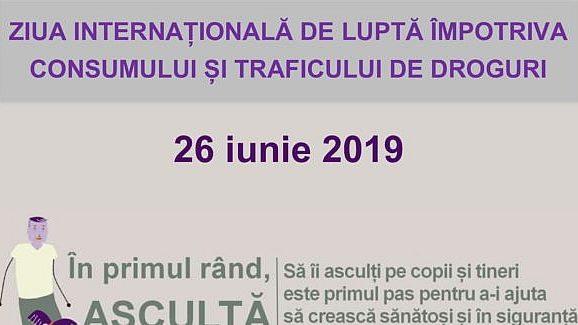 """Campanie împotriva consumului de droguri: """"În primul rând, ASCULTĂ!"""""""