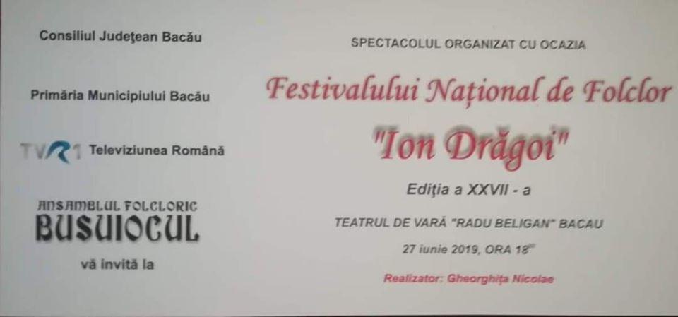 """Festivalul Național de Folclor ,,Ion Drăgoi"""" a ajuns la cea de-a XXVII-a ediție"""