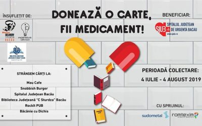 """,,Donează o carte, fii medicament"""" pentru Spitalul Județean Bacău"""