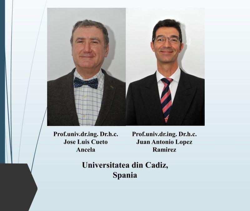 Cursuri susținute de profesori din Spania pentru masteranzii de la Inginerie