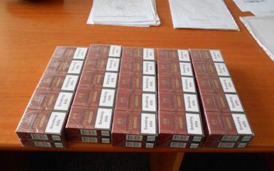 Țigări de contrabandă confiscate de Poliția Locală