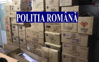 100 de kilograme de articole pirotehnice, indisponibilizate de polițiști