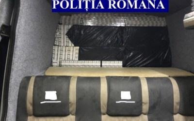 Peste 22.000 de pachete de țigări de contrabandă, descoperite de polțiștii băcăuani