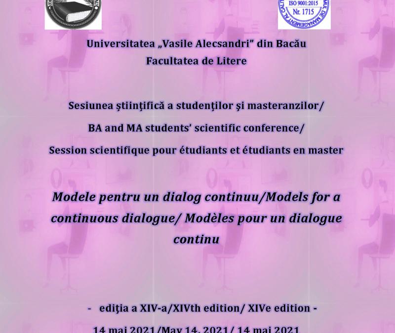 """,,Modele de dialog continuu"""" la Facultatea de Litere a Universității ,,Vasile Alecsandri"""""""