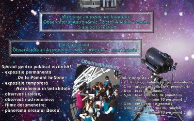 """Observatorul Astronomic""""Victor Anestin"""" Bacău- 5 ani de la restart"""
