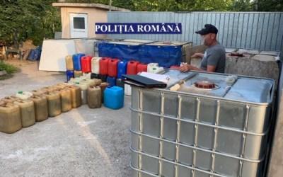 Percheziții în Bacău la suspecți de furt de produse petroliere