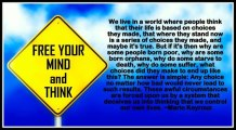 Free your mind and think - Mario Keyrouz Quote