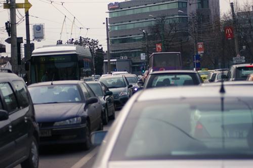 Imagini din traficul din Timișoara