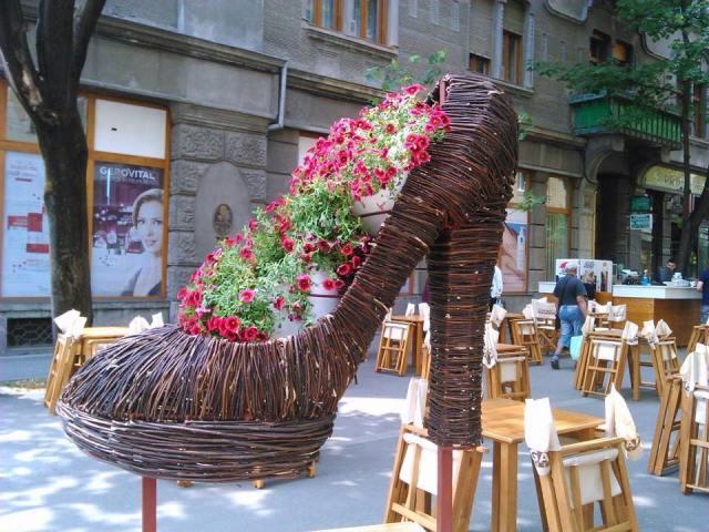 pantofi de flori