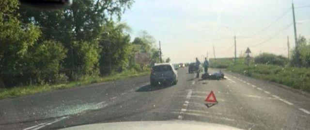 Accident cu motociclist