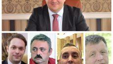 Sus: Călin Dobra. Jos, de la stânga, la dreapta: Andrei Lucaci, Adrian Negoiță, Eugen Chiosa, Viorel Bara.