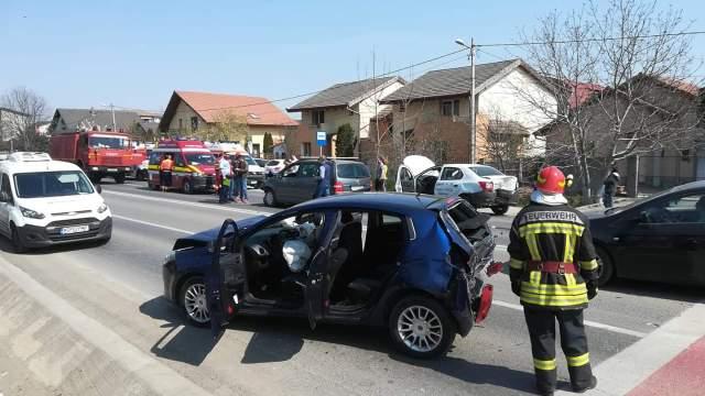 Accident rutier în Giroc