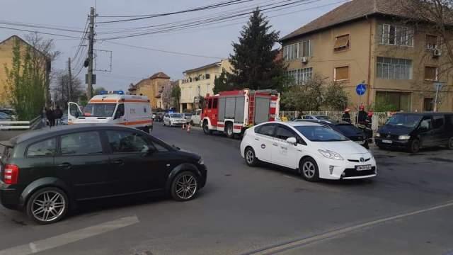 Accident rutier pe b-dul Eroilor de la Tisa