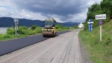 Se pune asfalt nou pe Clisura Dunării