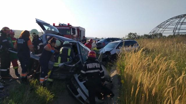 Accident rutier grav pe centura Lugojului