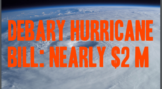 Hurricanes cost DeBary $1.8M over 2 years