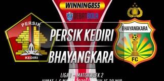 Prediksi Persik Kediri vs Bhayangkara 6 Maret 2020