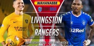 Prediksi Livingston vs Rangers 16 Agustus 2020