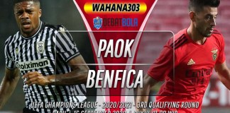 Prediksi PAOK vs Benfica 16 September 2020