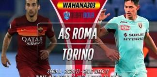 Prediksi AS Roma vs Torino 18 Desember 2020