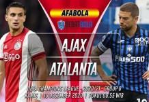 Prediksi Ajax vs Atalanta 10 Desember 2020